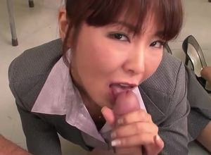Insatiable Asian Educator Gives Head..