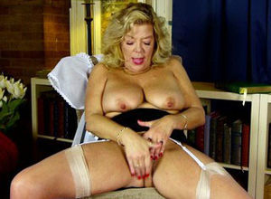 Kinky big-boobed grandma has no..