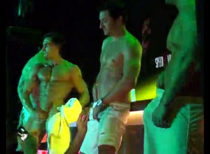 3 masculine strippers dancing and..