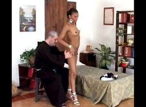 priest takes off youthful african..