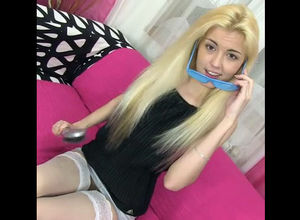Lovely blondie spinner pounds her taut..