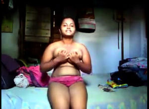 Indian teenager with saggy udders and..