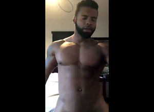 Ebony boy sings rap and dancing nude..