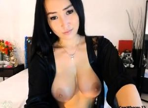 huge tits brown-haired pummeled rigid