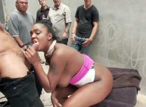 Ebony coochie gets degraded,..