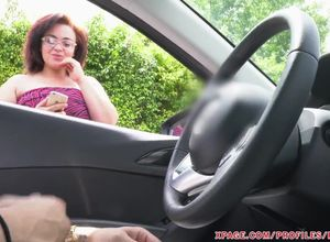 Slut with glasses cant  away as i jack..