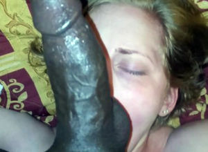 Platinum-blonde Gets Face  By A Big..