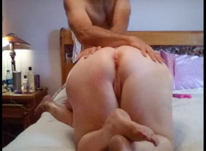 Homemade Giant Milky Bum Buttfuck..