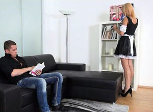 Teen French maid Isabell gets her..