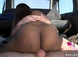 Scorching Black arse on the BangBus..