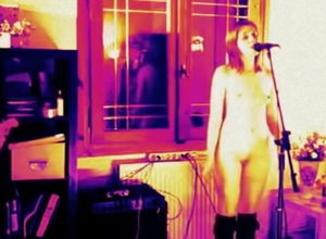 Nude lady singing