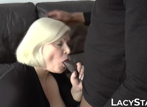 Huge-titted UK grandmother Lacey Starr..