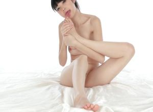 asian sucking dick herself toes..