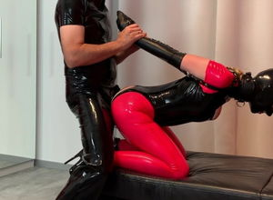 Bupshi - spandex superslut in armbinder