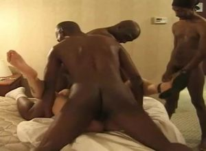 Cougar Wifey Rock-hard Motel Gang-bang..