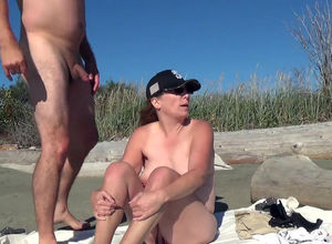 Round Cougar plowing on public beach